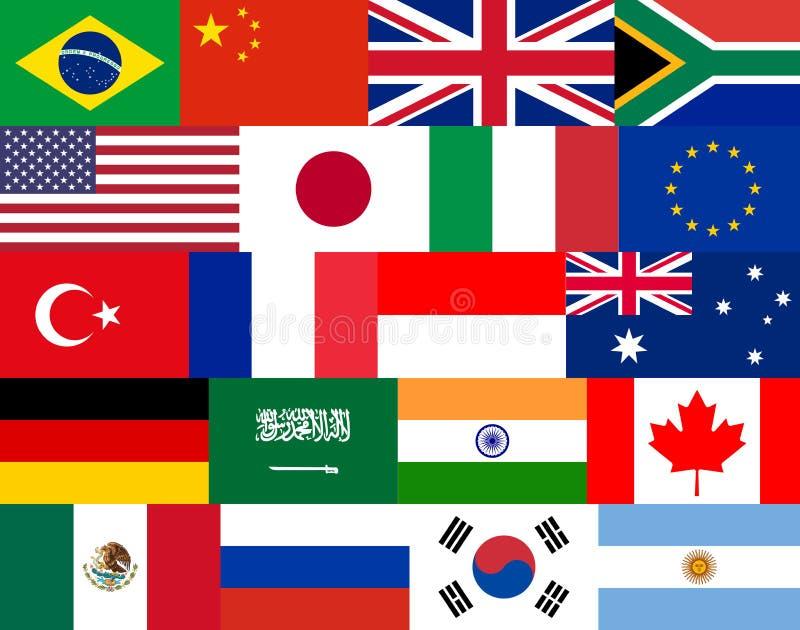 σύνολο επίπεδων διανυσματικών σημαιών ελεύθερη απεικόνιση δικαιώματος