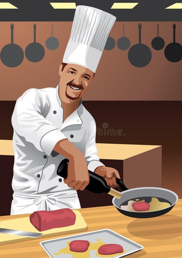 σύνολο επαγγέλματος μαγείρων αρχιμαγείρων ελεύθερη απεικόνιση δικαιώματος