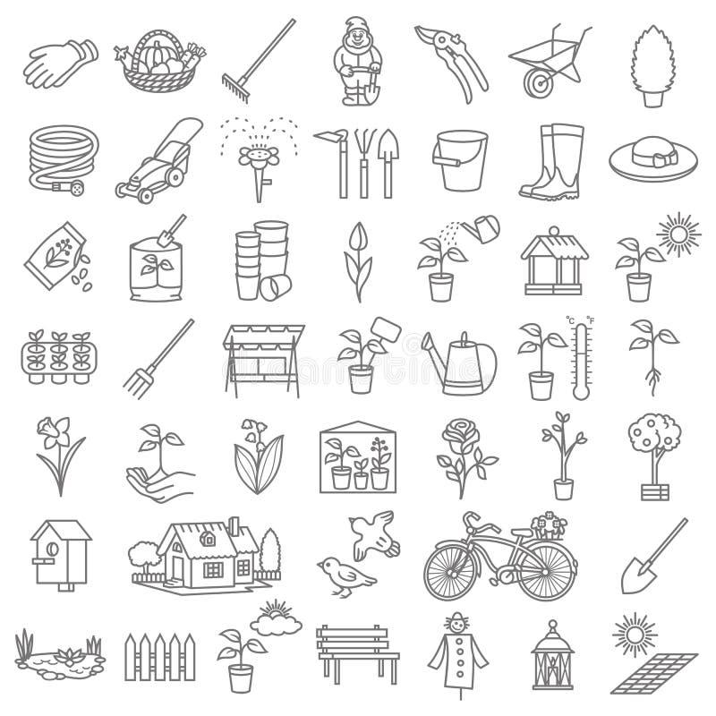 Σύνολο εργαλείων εικονιδίων κήπων διανυσματική απεικόνιση