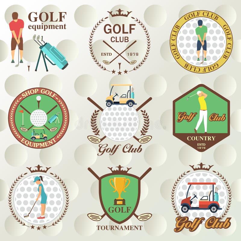 Σύνολο ετικετών γκολφ, διακριτικά απεικόνιση αποθεμάτων