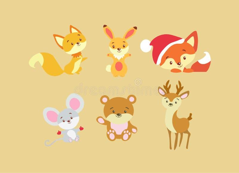 Σύνολο ζώων στο επίπεδο απεικόνιση αποθεμάτων