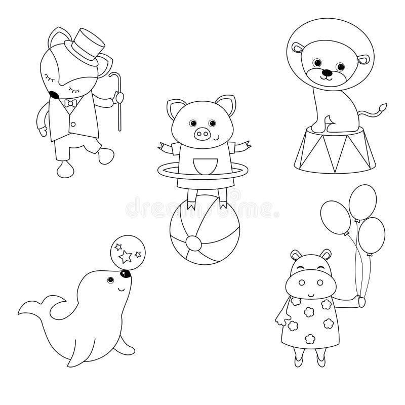 Σύνολο ζώων τσίρκων απεικόνιση αποθεμάτων