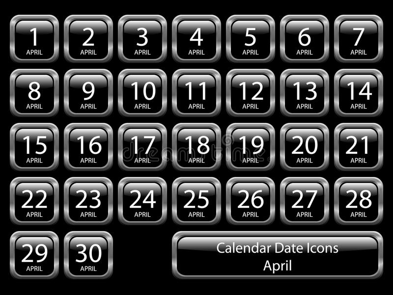σύνολο ημερολογιακών ε διανυσματική απεικόνιση