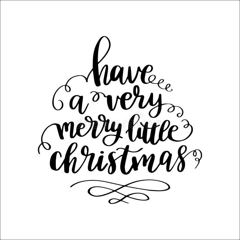 Σύνολο καλλιγραφικών καρτών χεριών με τα αποσπάσματα και τις φράσεις χειμερινών διακοπών: Το αφήστε να χιονίσει, Χαρούμενα Χριστο απεικόνιση αποθεμάτων