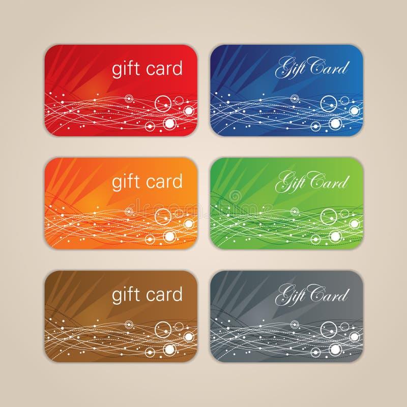 Σύνολο καρτών δώρων απεικόνιση αποθεμάτων