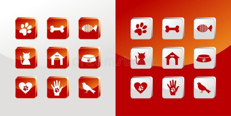 σύνολο κατοικίδιων ζώων &epsi απεικόνιση αποθεμάτων