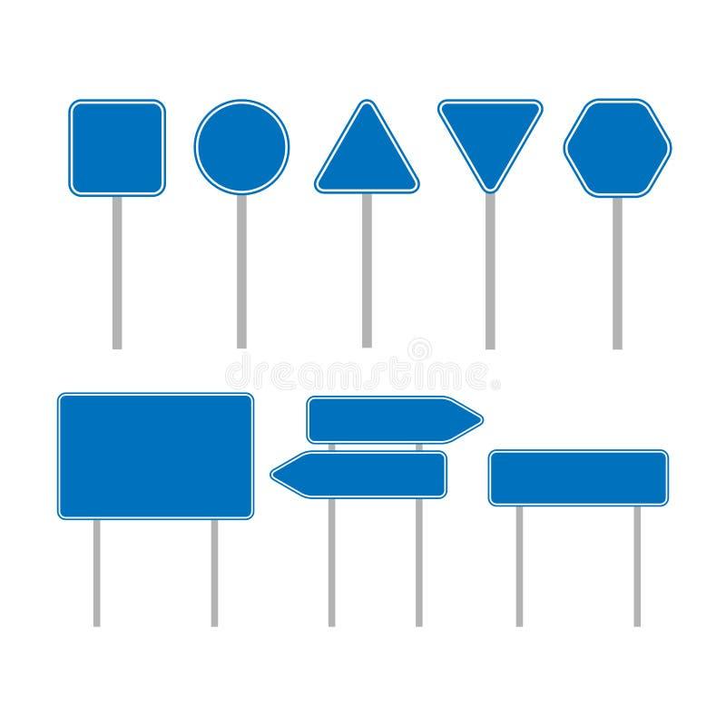 Σύνολο κενών σημαδιών Πιάτα συλλογής r ελεύθερη απεικόνιση δικαιώματος
