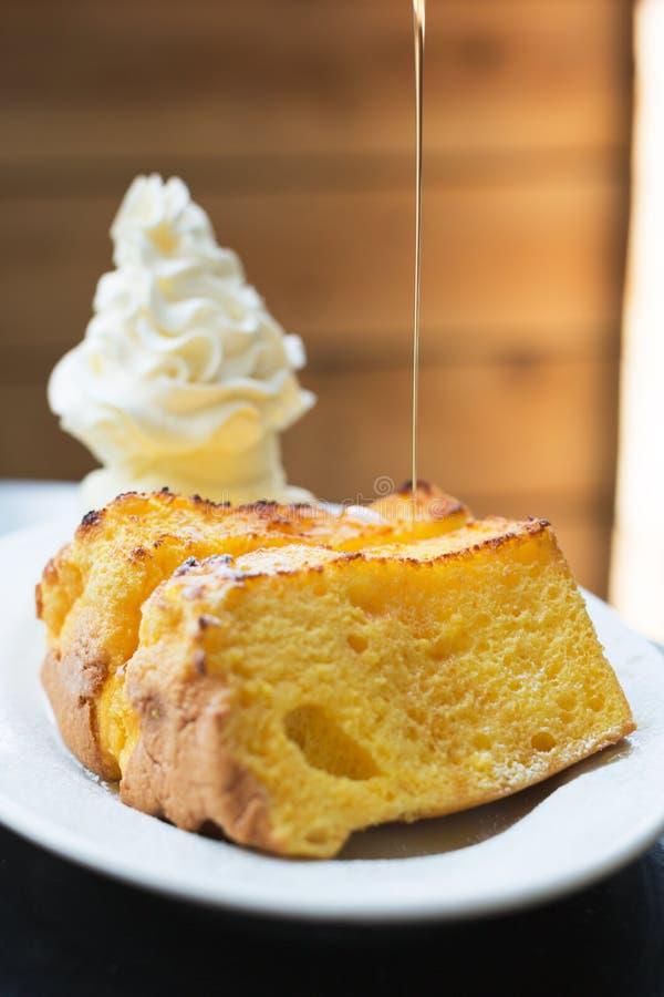 Σύνολο κοντός-κέικ και παγωτού στοκ φωτογραφία με δικαίωμα ελεύθερης χρήσης