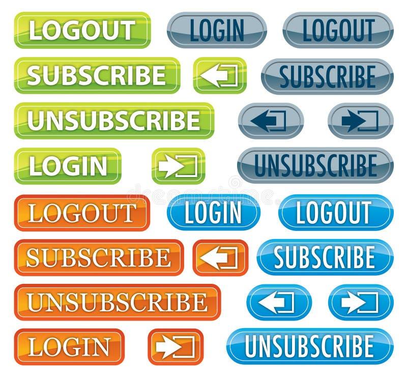 Σύνολο κουμπιών Ιστού ελεύθερη απεικόνιση δικαιώματος