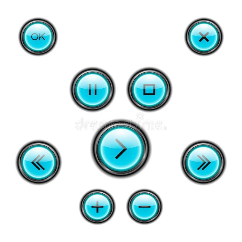Σύνολο κουμπιών μέσων Η μορφή μια έλλειψη r ελεύθερη απεικόνιση δικαιώματος