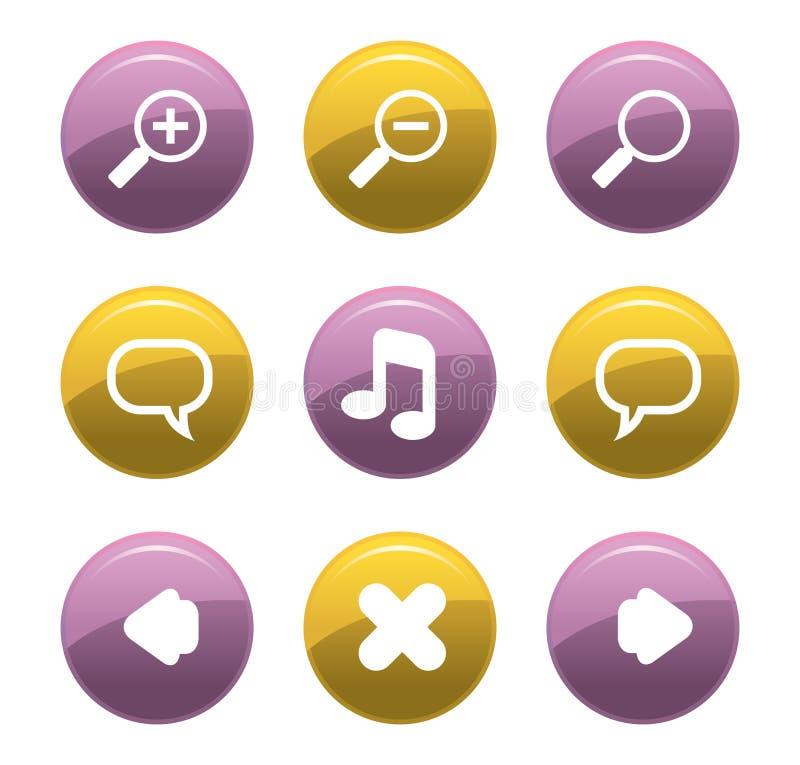 σύνολο κουμπιών ελεύθερη απεικόνιση δικαιώματος