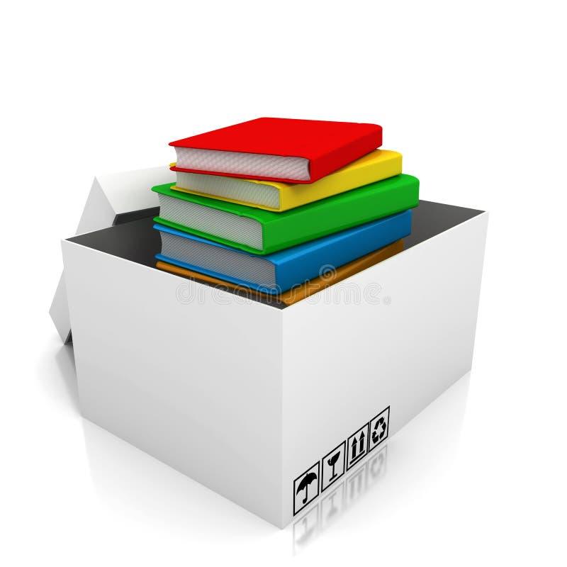 Σύνολο κουτιών από χαρτόνι των βιβλίων ελεύθερη απεικόνιση δικαιώματος