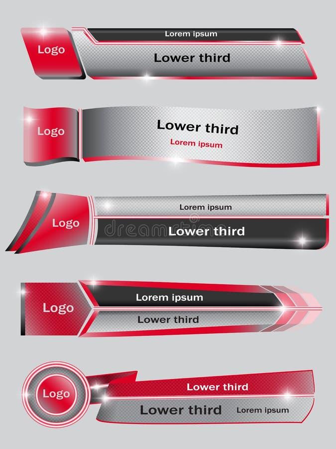 Σύνολο κόκκινου χαμηλότερου τρίτου απεικόνιση αποθεμάτων