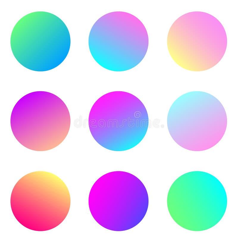 Σύνολο λαμπρά χρωματισμένων κύκλων κλίσης για το σχέδιο και το λογότυπό σας στοκ φωτογραφία με δικαίωμα ελεύθερης χρήσης