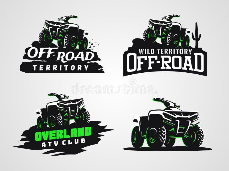 Σύνολο λογότυπου και εμβλημάτων οχημάτων ATV στοκ φωτογραφίες με δικαίωμα ελεύθερης χρήσης