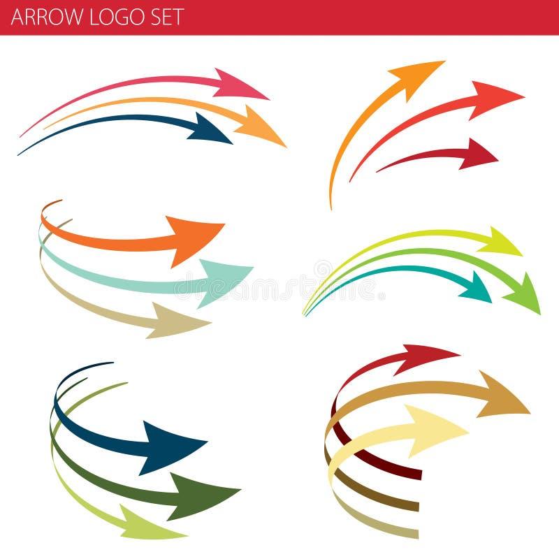 Σύνολο λογότυπων βελών διανυσματική απεικόνιση