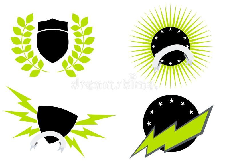 σύνολο λογότυπων εικονιδίων διανυσματική απεικόνιση