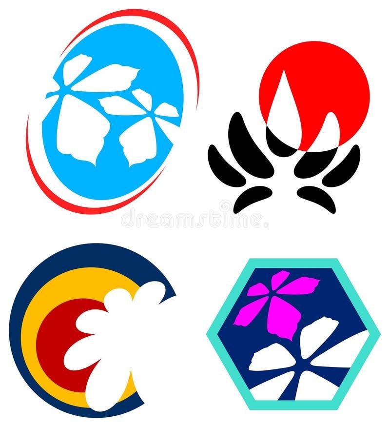 σύνολο λογότυπων λουλ&o διανυσματική απεικόνιση