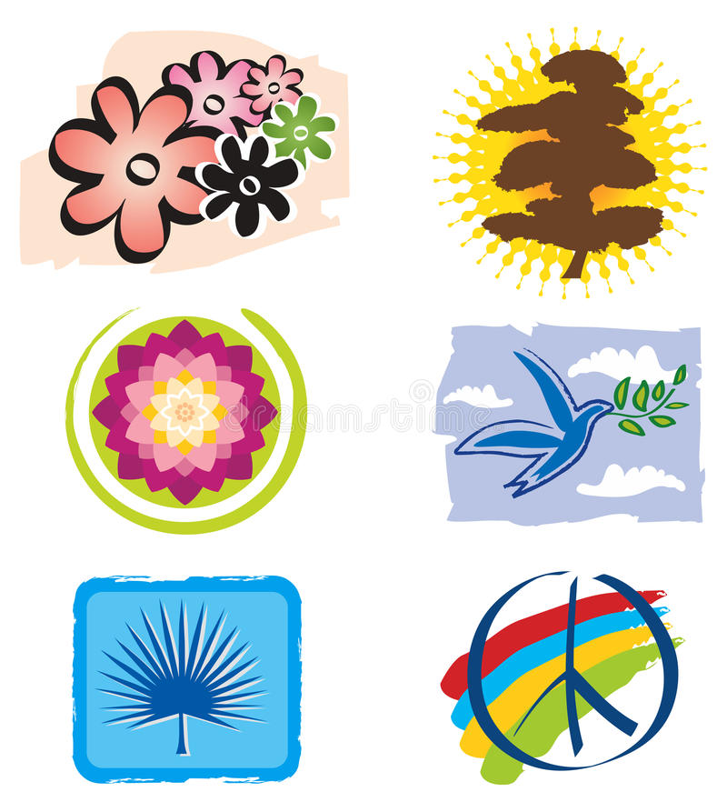 σύνολο λωτού λογότυπων &epsi διανυσματική απεικόνιση