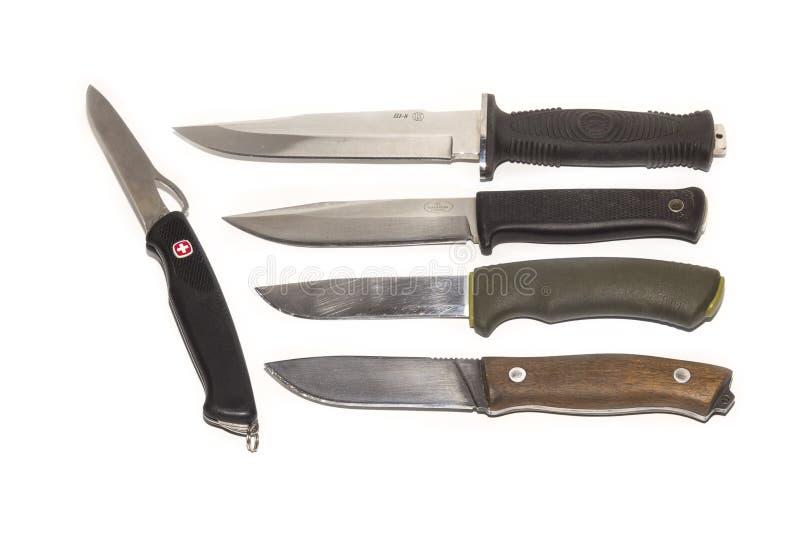 Σύνολο μαχαιριών κυνηγιού στοκ φωτογραφία με δικαίωμα ελεύθερης χρήσης