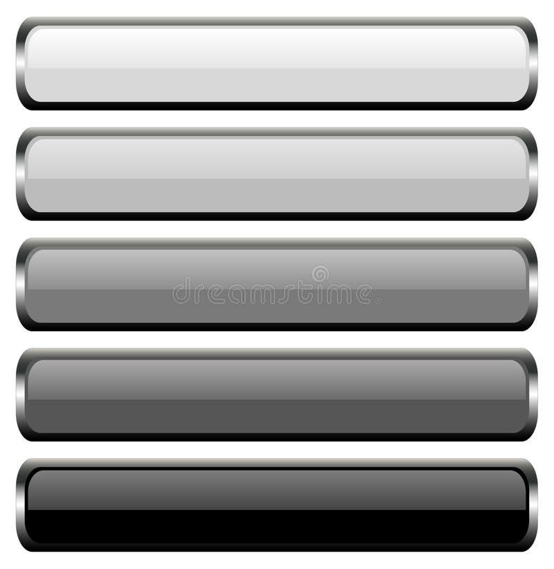 σύνολο μετάλλων 5 κουμπιών ελεύθερη απεικόνιση δικαιώματος