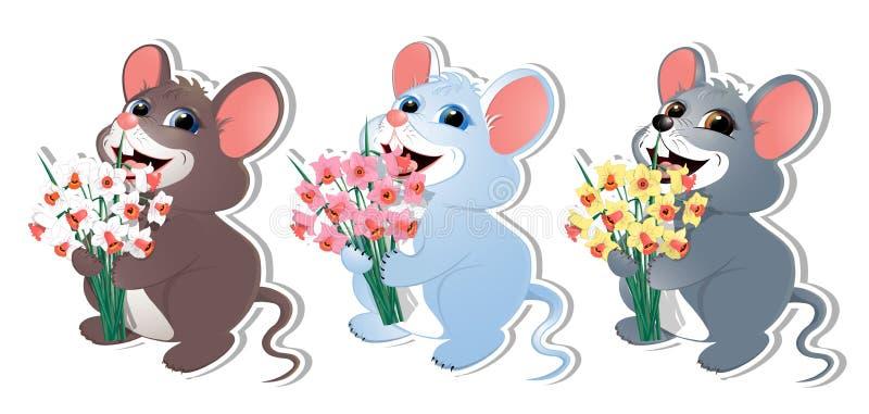Σύνολο με ποντίκι-02 ελεύθερη απεικόνιση δικαιώματος