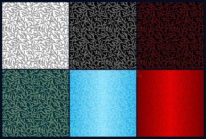 Σύνολο με τα διαφορετικά σχέδια χρώματος με την αστραπή απεικόνιση αποθεμάτων