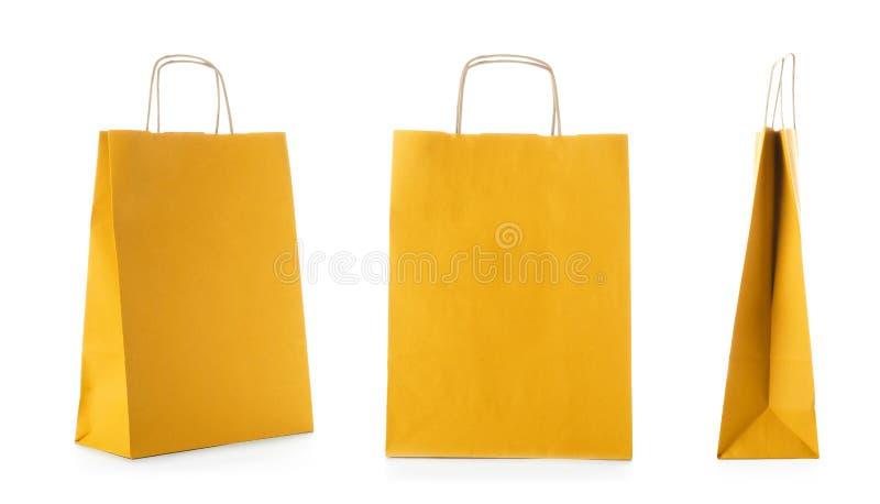 Σύνολο με τις τσάντες αγορών στοκ φωτογραφίες