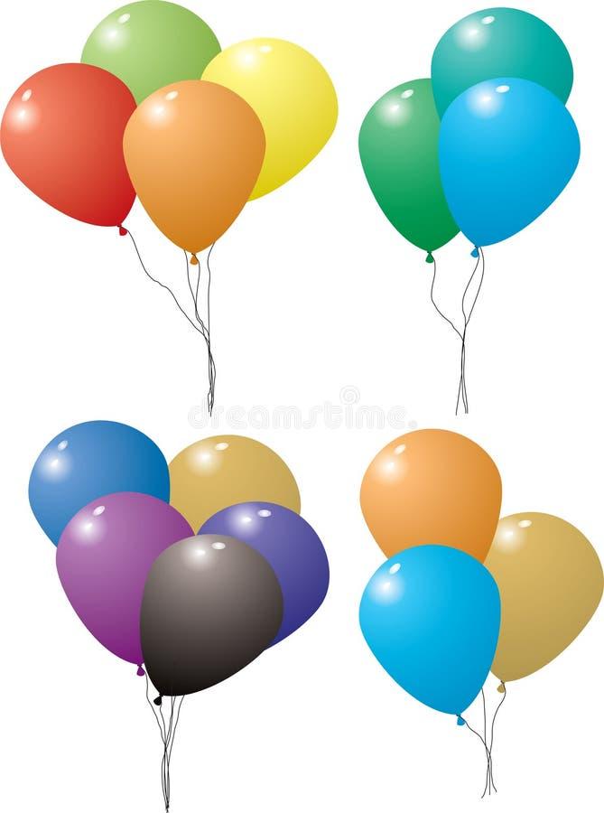 σύνολο μπαλονιών απεικόνιση αποθεμάτων