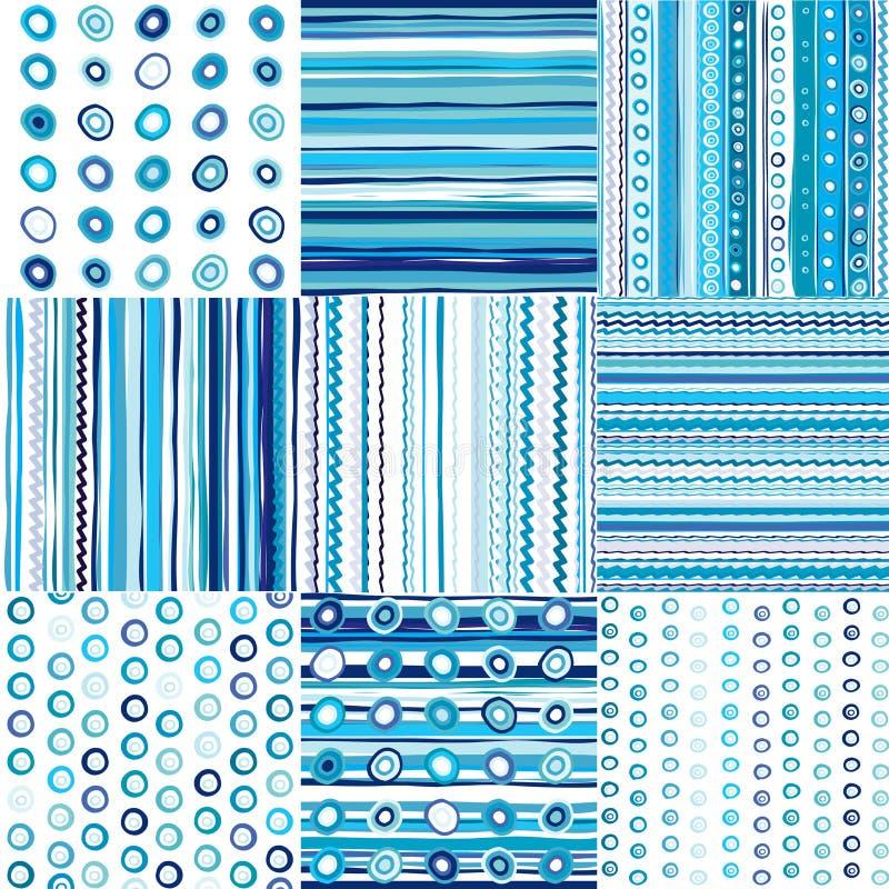 Σύνολο μπλε άνευ ραφής προτύπου για τα αγοράκια απεικόνιση αποθεμάτων