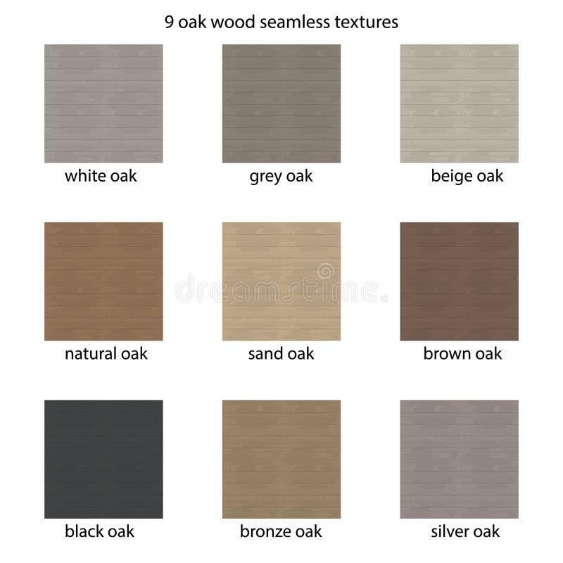 Σύνολο 9 ξύλινων συστάσεων άνευ ραφής διάνυσμα προτύπ&omeg διανυσματική απεικόνιση