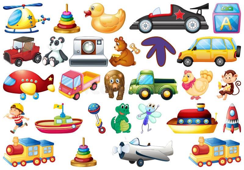 Σύνολο παιχνιδιών παιδιών διανυσματική απεικόνιση