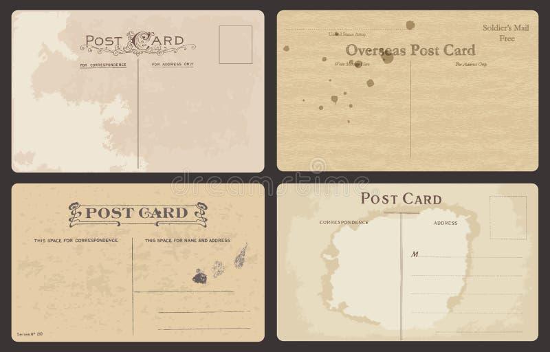 Σύνολο παλαιών καρτών ελεύθερη απεικόνιση δικαιώματος