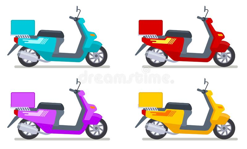 Σύνολο πλήκτρων χρώματος Οχήματα μεταφοράς μοτοσικλετών Λεπτομερές σύνολο απομονωμένων διανυσμάτων για τη μεταφορά μοτοσικλετών διανυσματική απεικόνιση