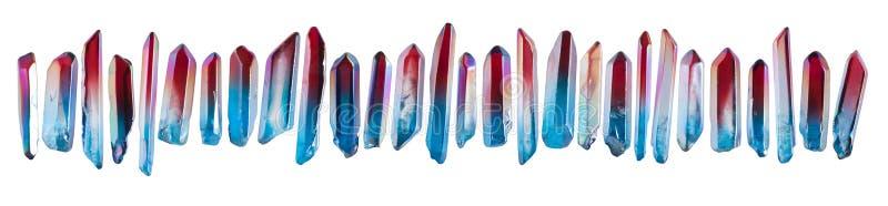 Σύνολο πολύτιμων λίθων λίγου κρυστάλλου στοκ εικόνα με δικαίωμα ελεύθερης χρήσης