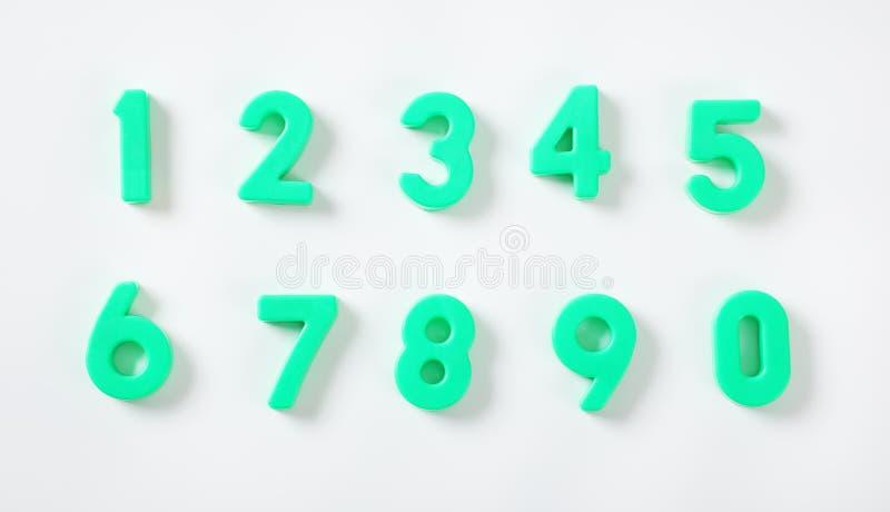 Σύνολο πράσινων αριθμών στοκ εικόνα