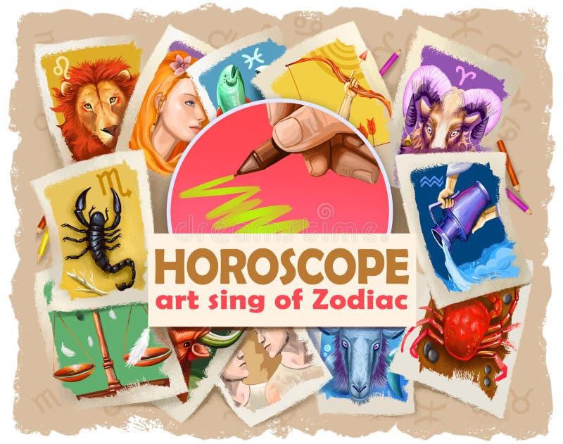 Σύνολο σημαδιών τέχνης ωροσκοπίων zodiac που απομονώνονται Πυρκαγιά: Aries, Leo και Sagittarius Γη: Taurus, Virgo και Αιγόκερος ελεύθερη απεικόνιση δικαιώματος