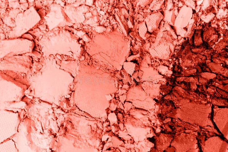 Σύνολο σκιών ματιών κοραλλιών διαβίωσης που απομονώνεται στο λευκό στοκ φωτογραφία με δικαίωμα ελεύθερης χρήσης
