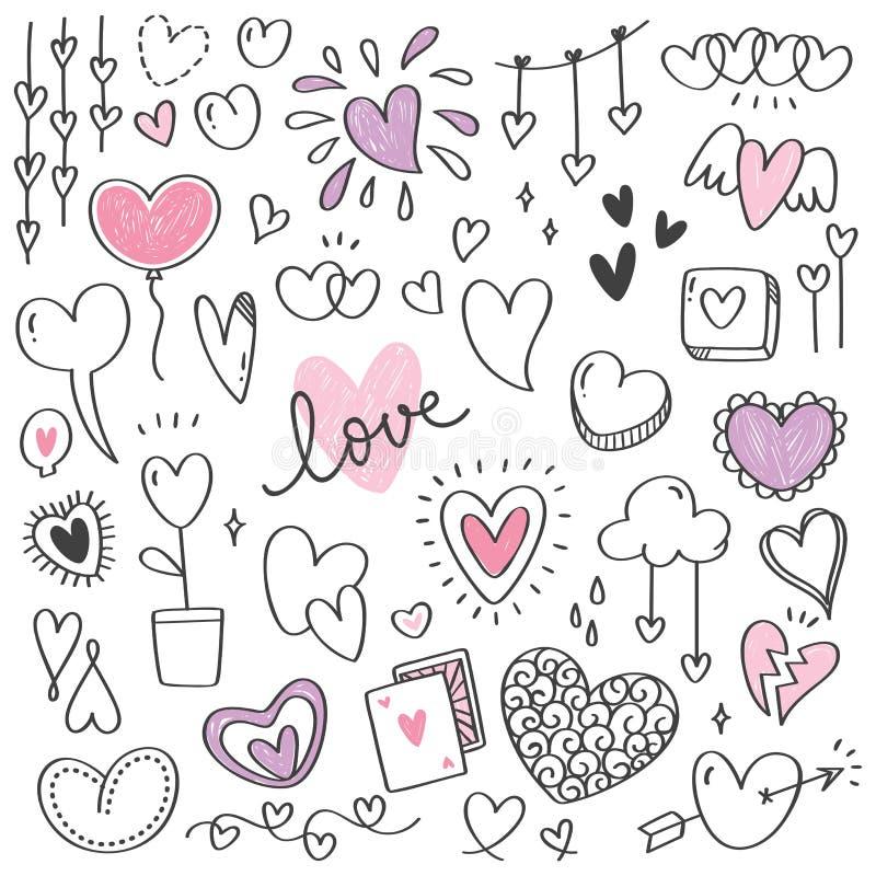 Σύνολο συρμένων χέρι βελών doodle διανυσματική απεικόνιση