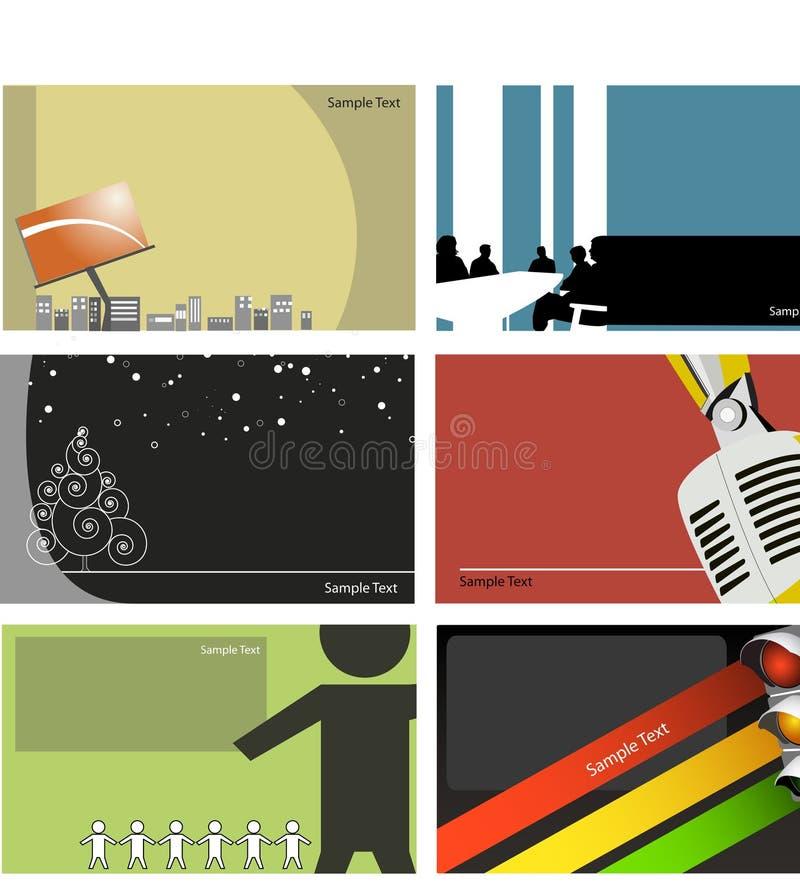 σύνολο σχεδίου επαγγελματικών καρτών στοκ εικόνες με δικαίωμα ελεύθερης χρήσης