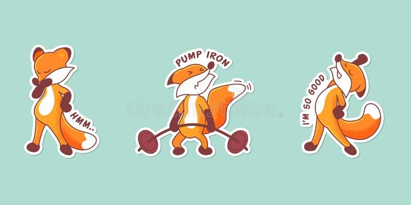 Σύνολο τριών αλεπούδων απεικόνιση αποθεμάτων