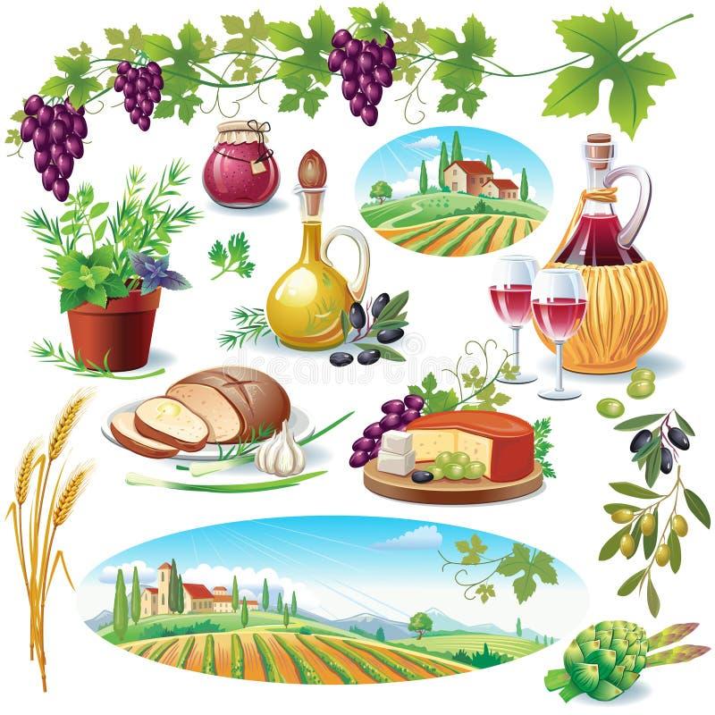 σύνολο τροφίμων απεικόνιση αποθεμάτων