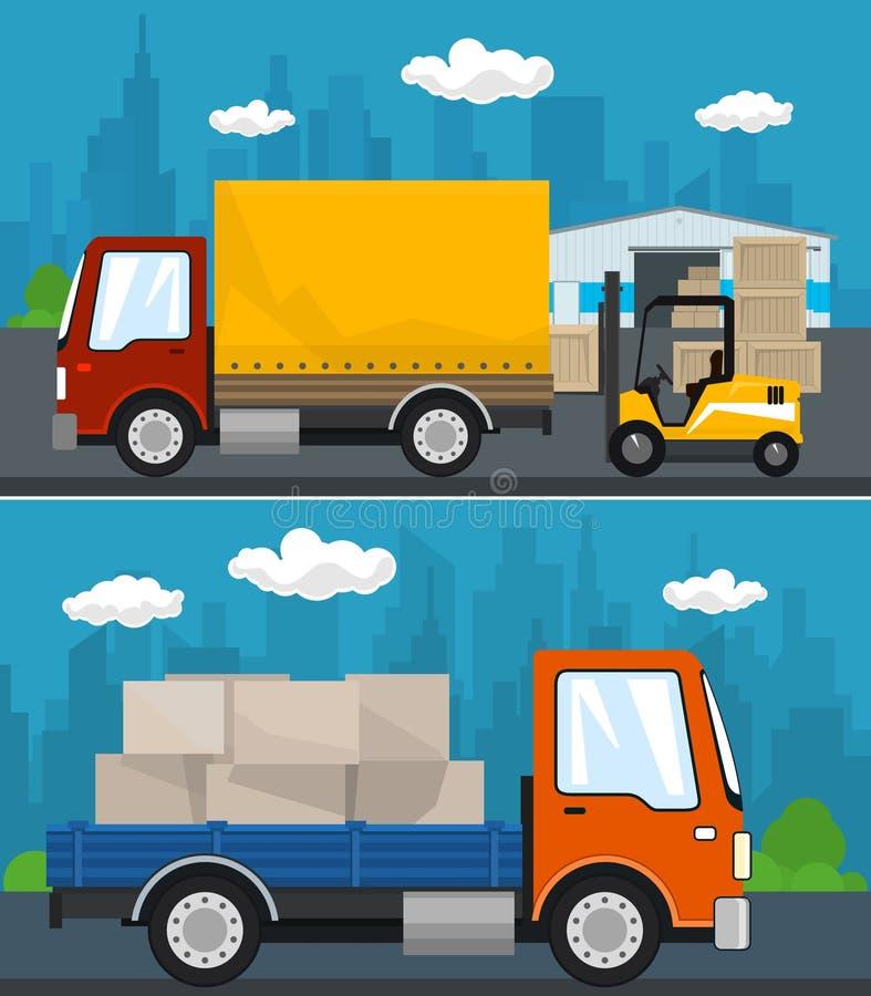 Σύνολο υπηρεσιών και αποθήκευσης φορτίου απεικόνιση αποθεμάτων