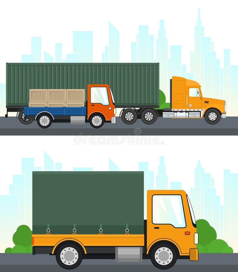 Σύνολο υπηρεσιών μεταφορών και διοικητικών μεριμνών ελεύθερη απεικόνιση δικαιώματος