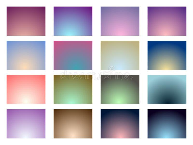 Σύνολο υποβάθρων κλίσης χρώμα μαλακό διάνυσμα ελεύθερη απεικόνιση δικαιώματος