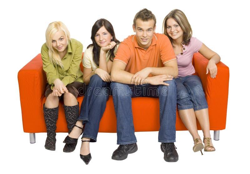 σύνολο φίλων καναπέδων στοκ φωτογραφία με δικαίωμα ελεύθερης χρήσης