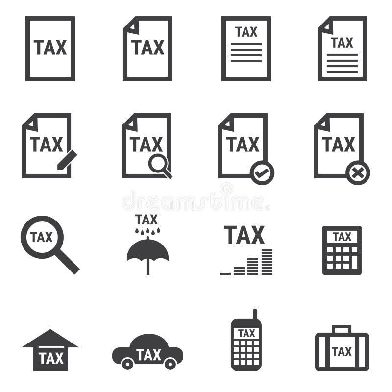 Σύνολο φορολογικών εικονιδίων, επίπεδο διανυσματικό illlustion eps10 σχεδίου απεικόνιση αποθεμάτων