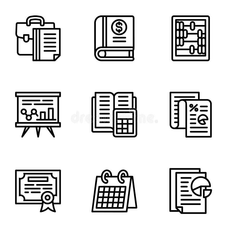 Σύνολο φορολογικών εικονιδίων, ύφος περιλήψεων ελεύθερη απεικόνιση δικαιώματος