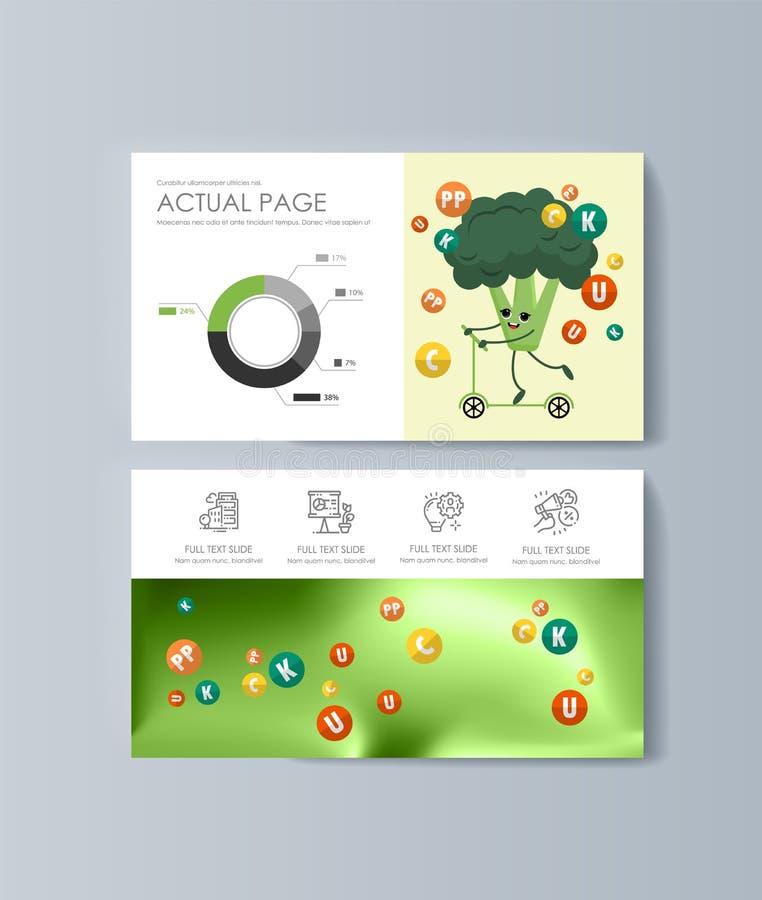 Σύνολο φυλλάδιων για το μάρκετινγκ των αγαθών και των υπηρεσιών προώθησης στην αγορά διανυσματική απεικόνιση