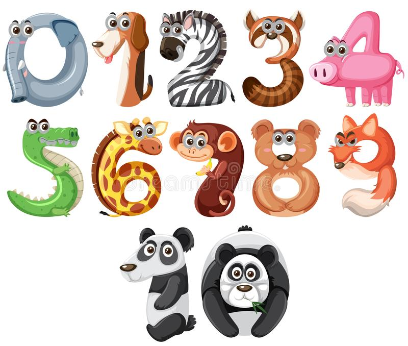 Σύνολο χαριτωμένου αριθμού ζώων διανυσματική απεικόνιση